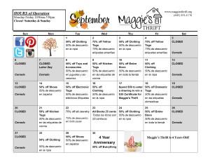 September 2015 Sales Calendar